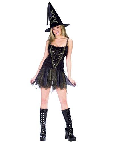 Sexy Flirty Witch Costume - Medium/Large - Dress Size 10-14 (Sexy Witch Dress)