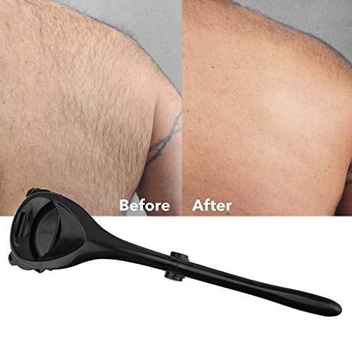 Two Head Blade Back Hair Removal and Body Shaver, Easy to Use Long S Shaped Handle for a Close, Pain-Free Shave Wet or Dry