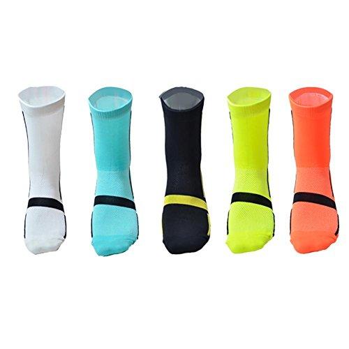 Chaussettes extérieures d'alpinisme de sports, chaussettes confortables respirables des hommes 5 paires