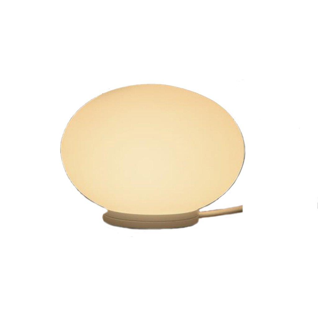 Lámpara de Mesa Redonda pequeña del Estilo Europeo, lámpara Creativa de Mesa Creativa lámpara de la lámpara de Aluminio, lámpara de cabecera del Dormitorio de la Pantalla de Cristal (G9) 0afb34