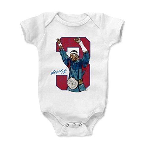 500 LEVEL Ben Wallace Baby Clothes, Onesie, Creeper, Bodysuit 3-6 Months White - Vintage Detroit Basketball Baby Clothes - Ben Wallace Belt R ()