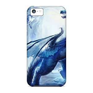 High Impact Dirt/shock Proof Case Cover For Iphone 5c (mystic Dragon)