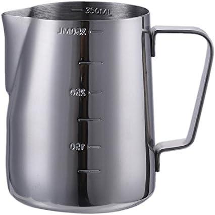 Para espuma de leche jarra con medidas a ambos lados, acero ...