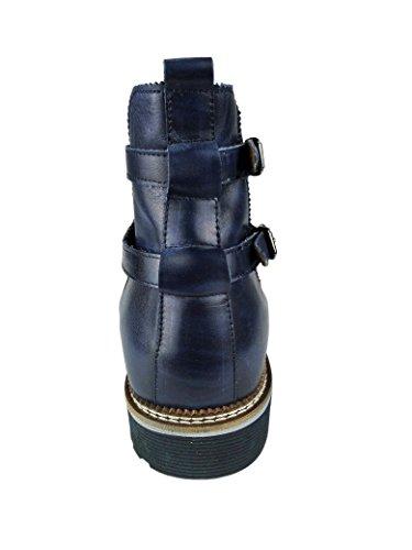 Zerimar Stivali Con Aumentato Interno Di 7 Cm Realizzata In Pelle Alta Qualità Stile Casual 100 Colore Blu Navy Taglia 43