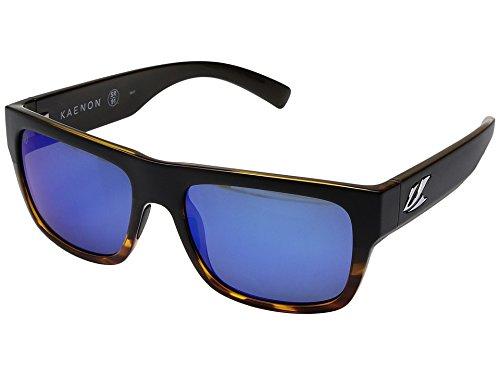 Kaenon  Men's Montecito Matte Black/Tortoise/Pacific Blue Mirror - Sunglasses Sr Kaenon 91