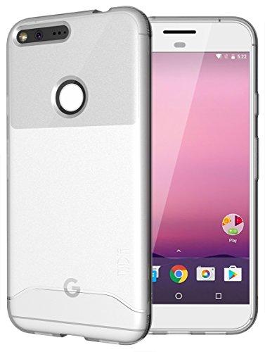 Google Pixel XL Case, TUDIA Full-Matte Lightweight [ARCH] TPU Bumper Shock Absorption Case for Google Pixel XL (Frosted Clear)