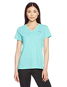 Under Armour Women's Threadborne Train Twist V-Neck Shirt, Absinthe Green/Graphite, Small