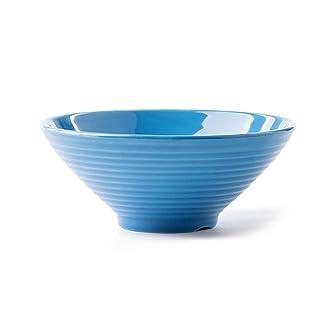 YMXLJF Cocina y Comedor Cuenco de cerámica de 7 Pulgadas, Cubiertos de la Vendimia Cuenco de microondas doméstico Creativo del Cuenco pequeño del Postre (Color : D)