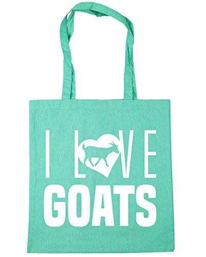 I HippoWarehouse Goats Shopping Beach 42cm x38cm litres Bag Mint Love 10 Gym Tote gwUwdqF