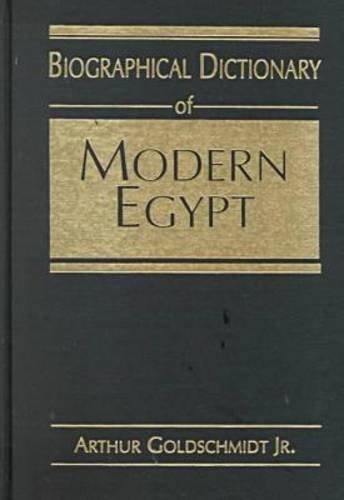 Biographical Dictionary of Modern Egypt pdf epub