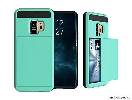 Scheam Samsung Galaxy S9 Case/Cover / Bumper/Skin / Cushion, Carry Case Pouch Pouch Holster Samsung Galaxy S9 - Mint Green