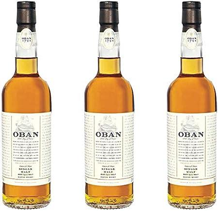 Oban 581375 - Lote de 3 Botes de Whisky (43%, 200 ml)
