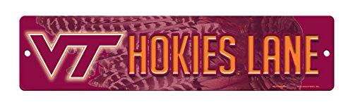 Virginia Tech Hokies Merchandise - Rico NCAA Virginia Tech Hokies 16-Inch Plastic Street Sign Décor