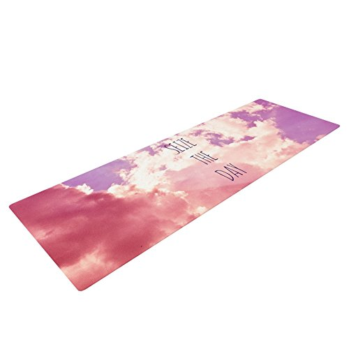 Kess InHouse Iris Lehnhardt Seize The Day Pink Purple Yoga Exercise Mat, 72 x 24 For Sale