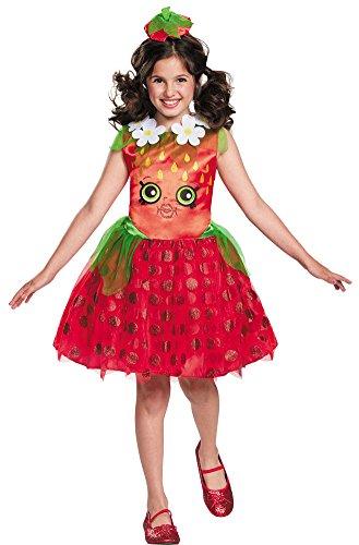 Girl Kiss Halloween Costumes (Girls Halloween Costume- Strawberry Kiss Classic Kids Costume Medium 7-8)