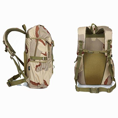Die neue Mehrzweck Outdoor-Sport-taktische Tarnung Rucksack Bergsteigen Taschen Casual Umhängetasche Wüsten-Tarnung