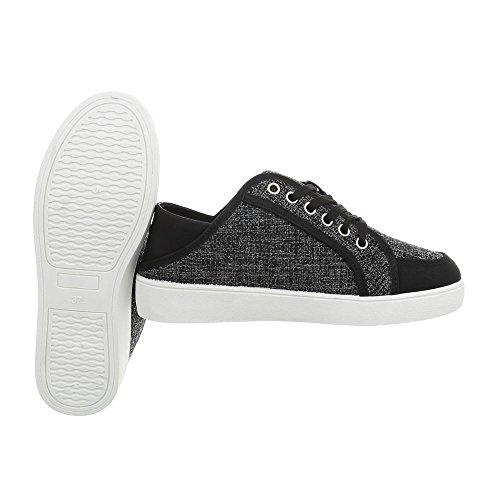 Low Baskets Plat Mode Espadrilles Ital Chaussures Femme Sneakers Design qwxSy6t48