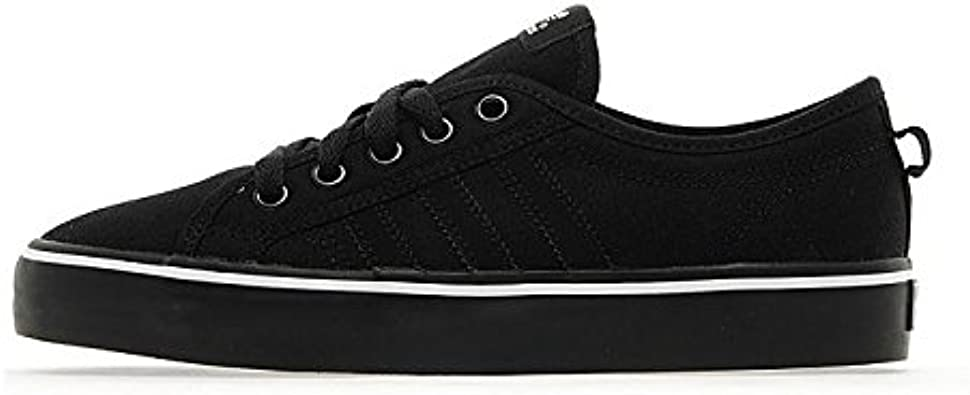 presidente Recuerdo borracho  adidas Originals Nizza Lo Junior Black/Black/White UK 5.5 US 6 EU/F 38.2/3  (UK 5.5 US 6 EU/F 38.2/3): Amazon.co.uk: Shoes & Bags