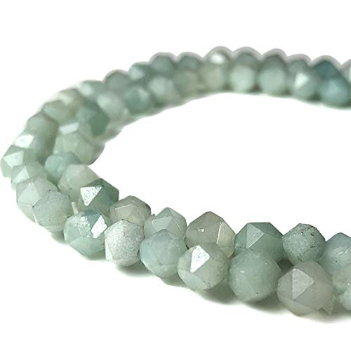 ([ABCgems] Russian Amazonite (Beautiful Color) Tiny 6mm Precision-Star-Cut Beads for Beading & Jewelry Making)