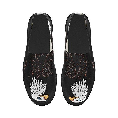 D-story Custom Blad Eagle Slip-on Microfiber Zapatos Para Hombre Sneaker