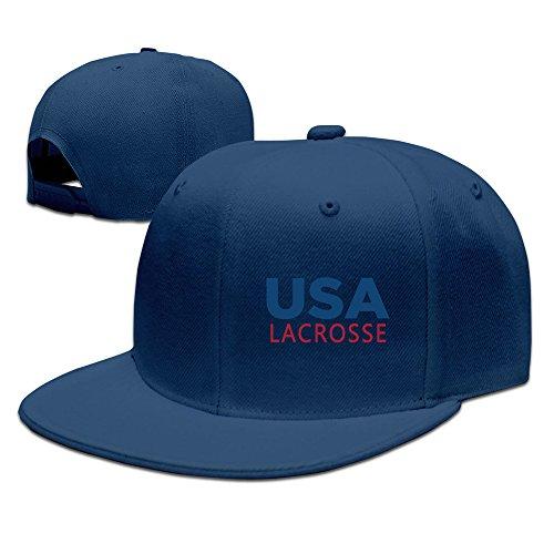 USA Lacrosse Adjustable Flat Bill Hat Snapback Hip Hop Hat ()
