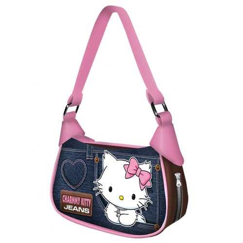 Sanrio babysmiles sacchetto Charmmy Kitty Jeans borsa Fancy blu 74277-CK