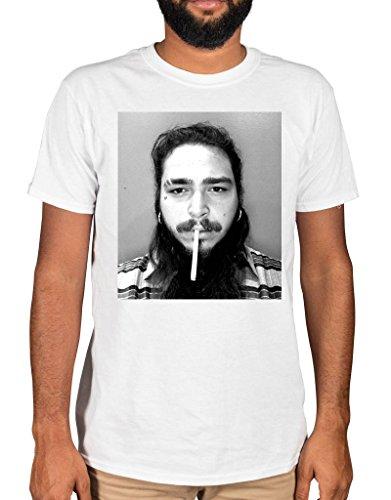 60d417fcc0d Ulterior Clothing Post Malone Cigarette T-Shirt 21 Savage White Iverson