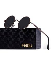 Retro Polarized Round Sunglasses for Men Vintage...