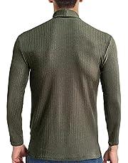 pamkyaemi Trui voor heren, gebreide trui, slim fit, turtleneck effen sweater basic turtle nek, trui met lange mouwen, gebreide trui, winter, moderne wollen trui