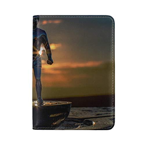 Sculpture Statuette Figurine Leather Passport Holder Cover Case Travel One Pocket