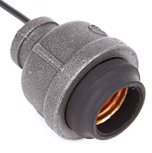 (Industrial Black Iron Pipe Lamp Socket w/Wire Leads (1/2