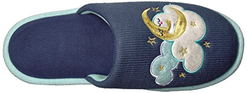 Mask Novelty Women's Eye Set Dearfoams Pile And Scuff Indigo xqAU5YwC