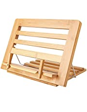 Bamboo Book Stand Display Adjustable Foldable Tray Page Paper Clips Phone Stand/Cookbook Stand/Foldable Tablet PC Textbook/rdy Lightweight Bookstand Textbooks Music Books Bookstands Cook Recipe Standstbooks Music Books Bookstands Cook Recipe Stands