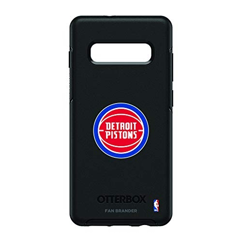 (Fan Brander NBA Phone case, Compatible with Samsung Galaxy S10+ and with OtterBox Symmetry Series(Detroit Pistons))