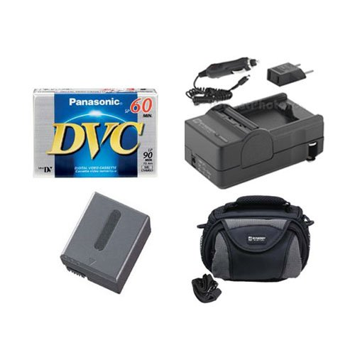 Sony DCR-IP5E Camcorder Accessory Kit includes: SDC-26 Case, SDM-102 Charger, SDNPFF70 Battery, DVTAPE Tape/ Media (102 Sdm Charger)
