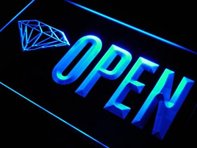 OPEN Diamond Shop Store Buy LED Sign Neon Light Sign Display j788-b(c)