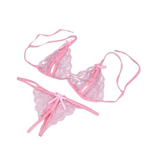 - UIFIDI Women Lady Sexy Lingerie Lace Underwear Sleepwear G-String Lingerie Pink