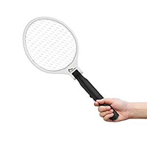 Electric Fruit Fly Killer Zapper - CosyMeadow Bug Swatter Racket | Full Size & Foldable, Stores Away Small & Compact | Best Portable Camping Travel Mosquito Insect Eliminator | Safety Features
