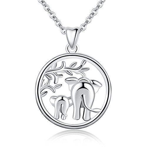 (AEONSLOVE 925 Sterling Silver Lucky Elephant
