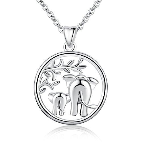 AEONSLOVE Sterling Elephant Forever Necklace product image