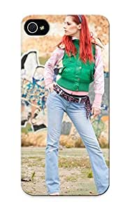 Premium Snap-on Women Jeans Redheads Graffiti Outdoors Jackets High Heels Ariel Piper Fawn Case For Iphone 5/5s Series