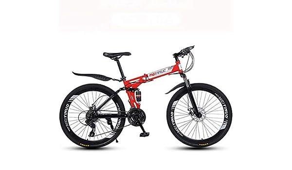 HYCy Bicicleta Plegable De Bicicleta De Montaña,Cuadro De Acero De ...