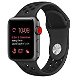 OULUOQI for Apple Watch Band 42mm, Soft Silicone Replacement Band for Apple Watch Series 3, Series 2, Series 1, Sport , Edition, M/L Size ( Anthracite/Black )