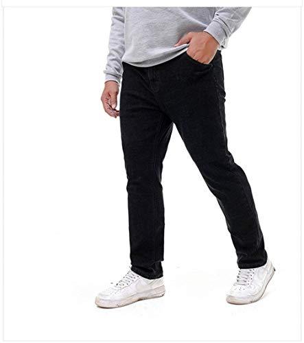 Denim Con T Da Uomo Jeans Casual Pantaloni Fit E Dritti Slim Nero Moda Vintage APwIcFcq