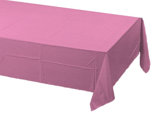 Pink Paper Tablecloths - Creative Converting Paper Banquet Table Cover, Candy Pink