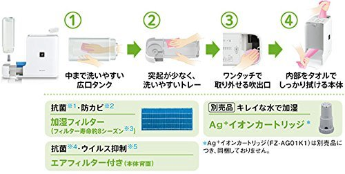 日本初の SHARP 加湿器 HV-D30-W 加湿器 プラズマクラスター搭載 HV-D30-W B00NGGD5HK B00NGGD5HK, ブランベティカ:a6ddaa46 --- irlandskayaliteratura.org