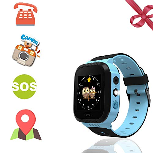 Benobby Kids Smartwatches, for Boys and Girls from 3-14 Years Old, Daily Use Waterproof/GPS+LBS Positioning/Two-Way Communication/SOS Warning/Flashlight/Alarm, Best Present for Kids.(Bule)