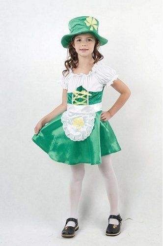 Bristol Novelty Leprechaun Costume Girl Medium Child Age 5 - 7 Years