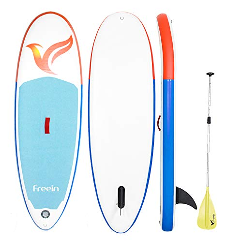 Freein Inflatable Stand Up Paddle Board,7'8 Long Inflatable SUP for Youth and Adult (Without Hand Pump)