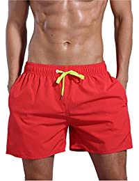 Men's Quick Dry Swim Trunks Bathing Suit Beach Shorts